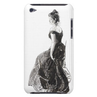 Black Evening Dress 1901 Barely There iPod Cases