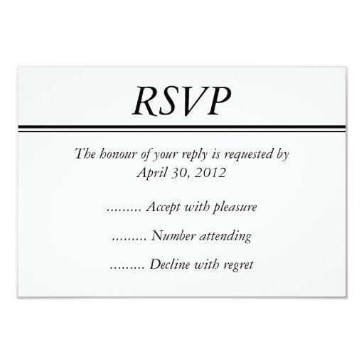 rsvp card sample