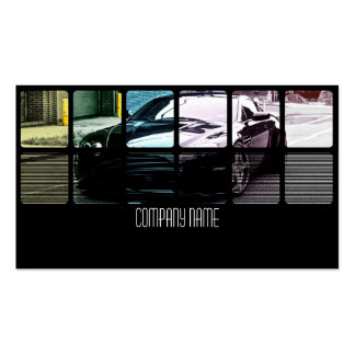 Black Exotic Car in  Different Colors Pack Of Standard Business Cards