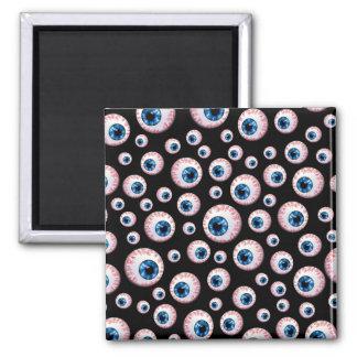 Black eyeball pattern refrigerator magnet