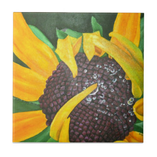 Black Eyed Susan Ceramic Tile