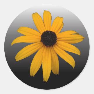Black Eyed Susan Classic Round Sticker