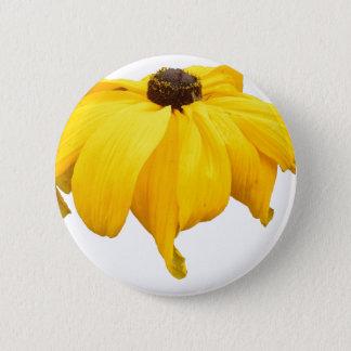 Black Eyed Susan Flower 6 Cm Round Badge