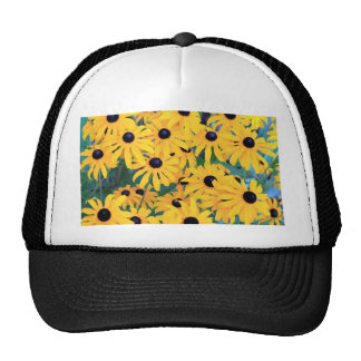 Black Eyed Susan Flowers in Deep Yellow Cap
