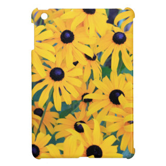 Black Eyed Susan Flowers in Deep Yellow Cover For The iPad Mini