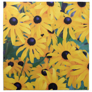 Black Eyed Susan Flowers in Deep Yellow Napkin