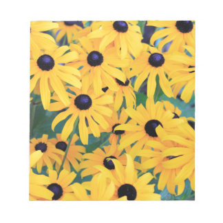 Black Eyed Susan Flowers in Deep Yellow Notepad