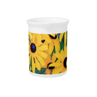Black Eyed Susan Flowers in Deep Yellow Pitcher