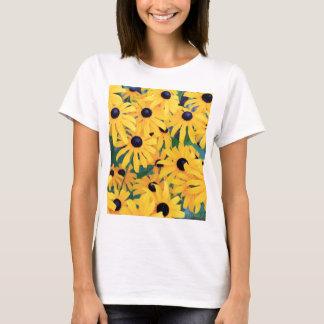 Black Eyed Susan Flowers in Deep Yellow T-Shirt