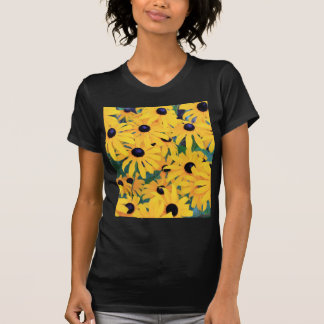 Black Eyed Susan Flowers in Deep Yellow T-Shirt