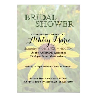 Black-eyed Susan Shower Invitation