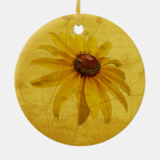 Black-Eyed Susan Wildflower Ceramic Ornament