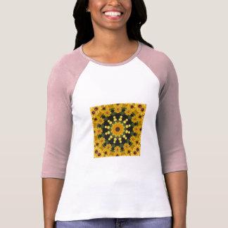 Black-eyed Susans 02.2, Floral mandala-style T-Shirt