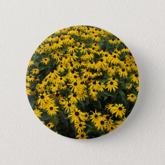 Black-Eyed Susans 6 Cm Round Badge