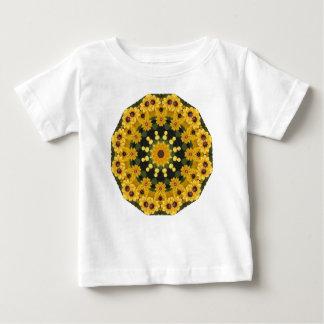 Black-eyed Susans,  Floral Mandala Baby T-Shirt