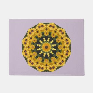 Black-eyed Susans,  Floral Mandala Doormat