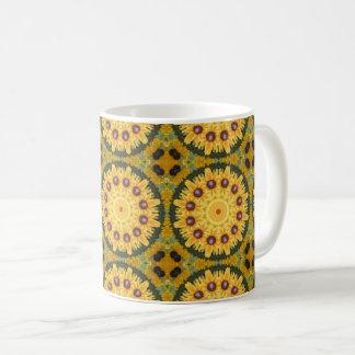 Black-eyed Susans, Floral mandala-style 02.2 Coffee Mug