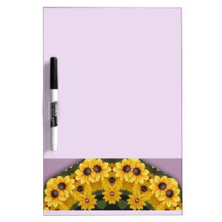 Black-eyed Susans, Floral mandala-style Dry Erase Boards