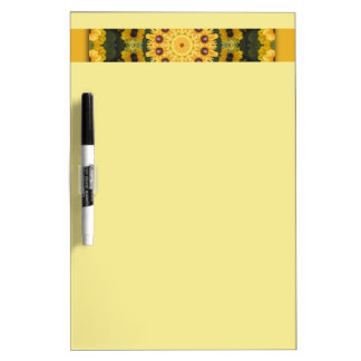 Black-eyed Susans, Floral mandala-style Dry-Erase Boards
