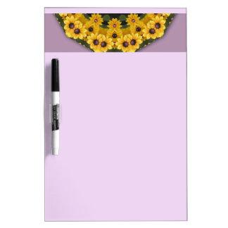 Black-eyed Susans, Floral mandala-style Dry-Erase Whiteboards
