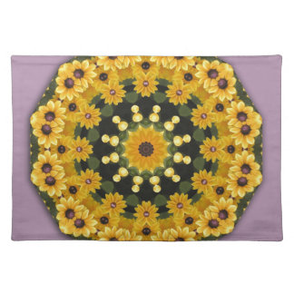 Black-eyed Susans, Floral mandala-style Placemat