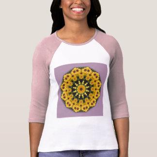 Black-eyed Susans, Floral mandala-style T-Shirt