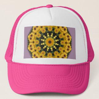 Black-eyed Susans, Floral mandala-style Trucker Hat