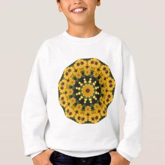 Black-eyed Susans,  Floral Mandala Sweatshirt