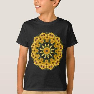 Black-eyed Susans,  Floral Mandala T-Shirt