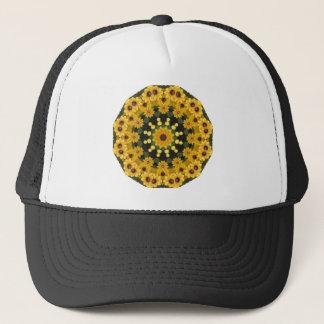 Black-eyed Susans,  Floral Mandala Trucker Hat