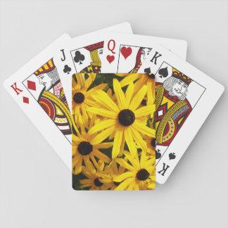 Black Eyed Susans Floral Playing Cards