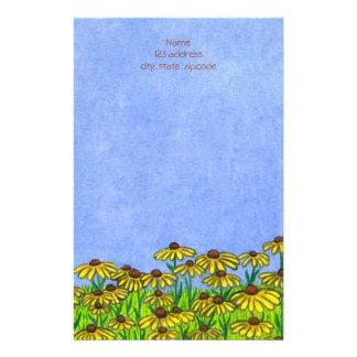 Black Eyed Susans Flowers ~Letterhead Paper