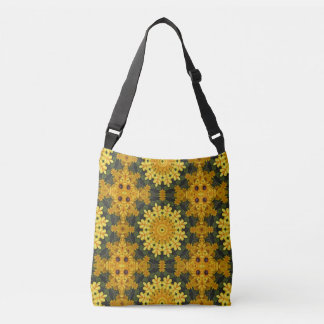 Black-eyed Susans, mandala style Crossbody Bag