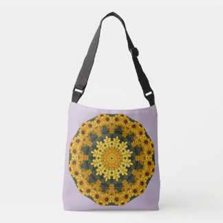 Black-eyed Susans Nature, Flower-Mandala Crossbody Bag