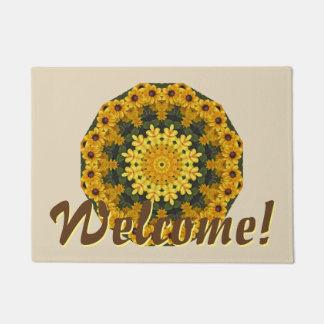 Black-eyed Susans Nature, Flower-Mandala Doormat