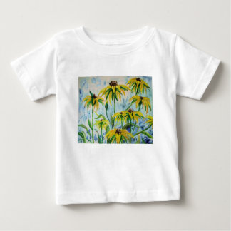 Black eyed suzans in Watercolor Baby T-Shirt