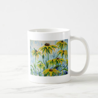 Black eyed suzans in Watercolor Coffee Mug