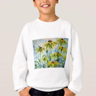 Black eyed suzans in Watercolor Sweatshirt