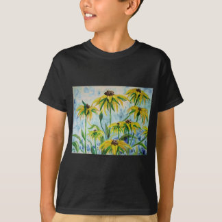 Black eyed suzans in Watercolor T-Shirt