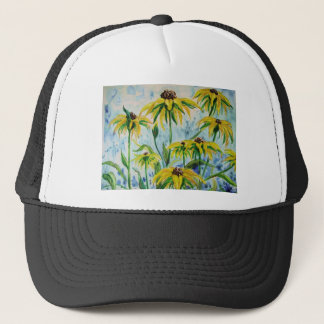 Black eyed suzans in Watercolor Trucker Hat