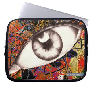 black eyes laptop sleeve