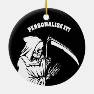 black  f death ceramic ornament