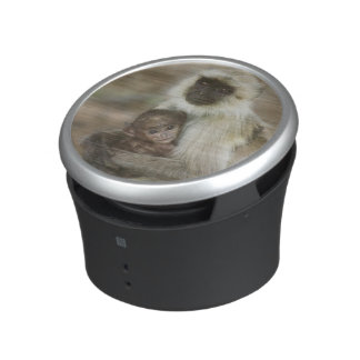 Black-face Langurs, mother with baby, in Bluetooth Speaker