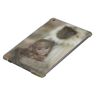 Black-face Langurs, mother with baby, in iPad Air Cover