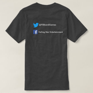 Black Falling Star with social media T-Shirt