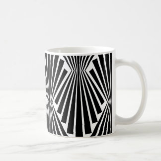 Black Fans Vintage Art Deco Custom Pattern Coffee Mug