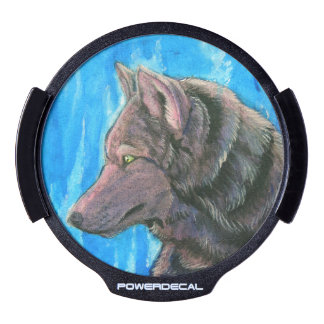 Black Fantasy Wolf Power Decal LED Window Decal