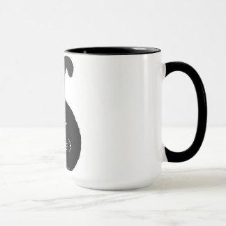 Black fatty cat mug