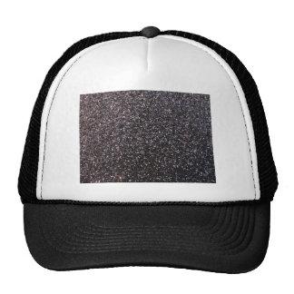 Black faux glitter graphic cap