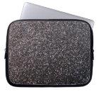 Black faux glitter graphic laptop sleeve